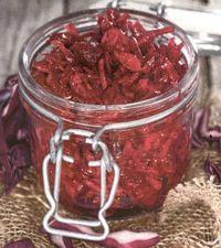 Varza rosie la borcan