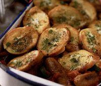 Carnaciori cu paine cu usturoi