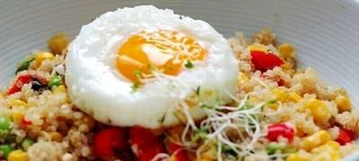 Quinoa cu porumb si coriandru