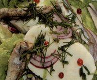 Salata cu ansoa si mozzarella