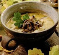 Supa de ciuperci cu tofu