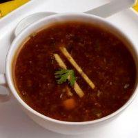 Supa de legume cu sos de soia