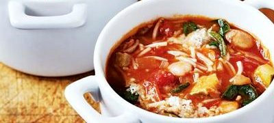 Supă minestrone de Jamie Oliver