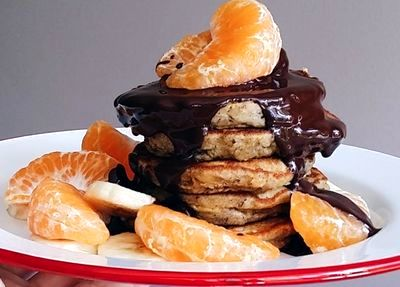 Clatite cu ciocolata si mandarine