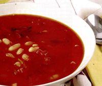 Supa de fasole cu suc de rosii