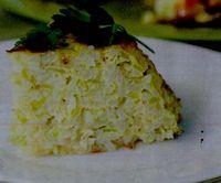 Budinca de orez cu branza sarata