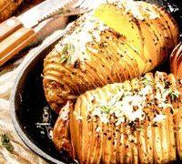 Cartofi rumeniti cu branza