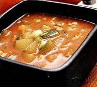 Supa de cartofi noi cu praz