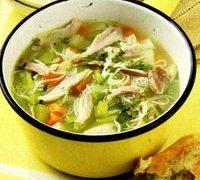 Supa de pui cu taietei de orez