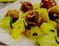 Sardele prajite cu cartofi