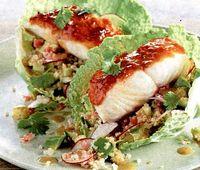 Cod negru cu salata