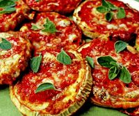 Mini pizza cu vinete