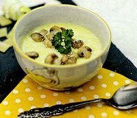 Supa crema de praz cu ciuperci