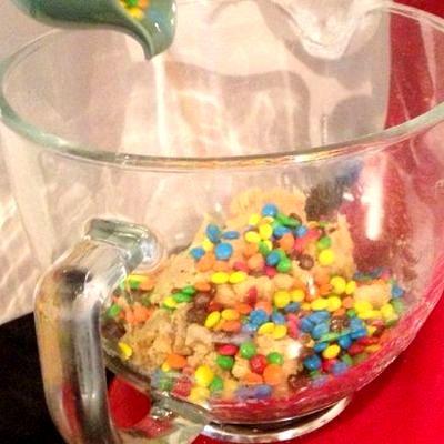 Fursecuri cu bomboane M&Ms