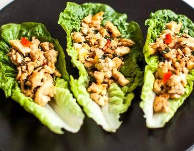 Tofu prajit cu salata verde