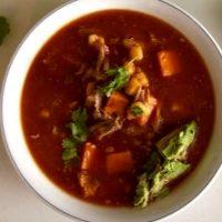 Supa de porc cu ardei iute