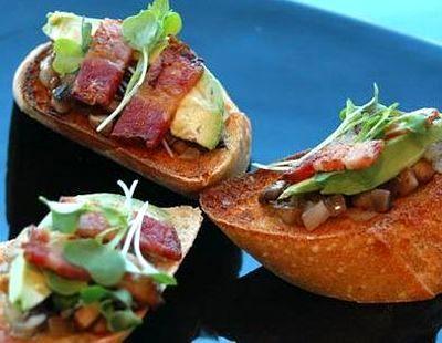 Bruschete cu bacon si ciuperci