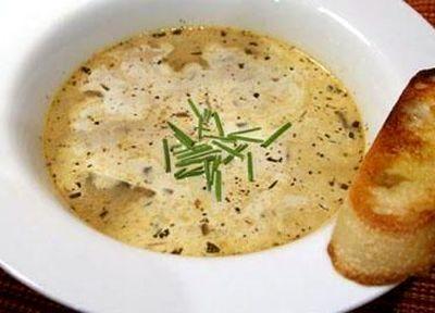 Supa de ciuperci cu ierburi de provence