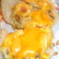 Omleta cu ciuperci si cheddar