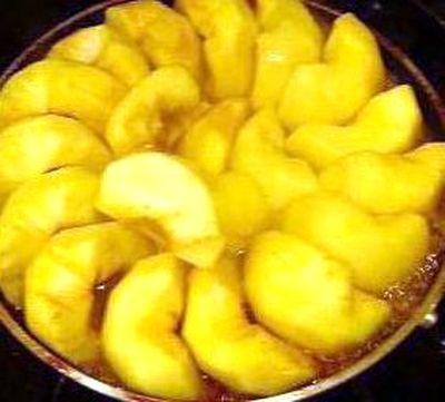 Prajitura cu mere si zahar