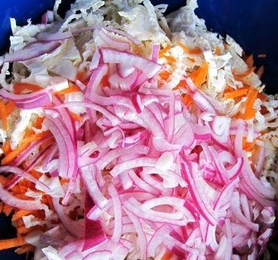 Salata rece de pui cu legume