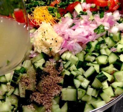 Salata de cruditati cu quinoa