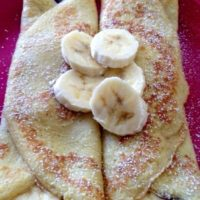 Clatite cu ciocolata si banane