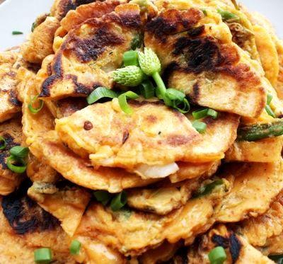 Chiftele de kimchi cu sos de soia