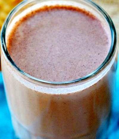 Lapte cu cacao si alune