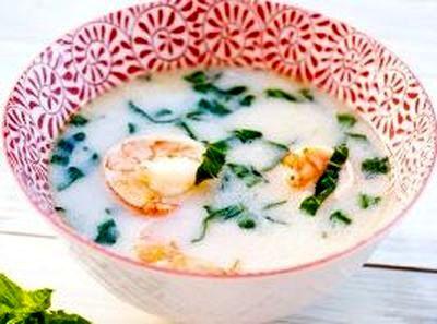Supa de creveti cu lapte de cocos