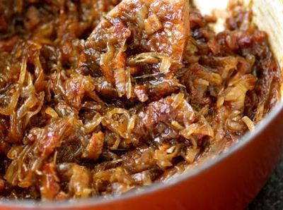Dulceata de ceapa si bacon