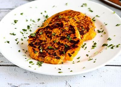 Chiftelute cu cartofi dulci si ton