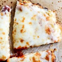 Pizza cu conopida si mozarella