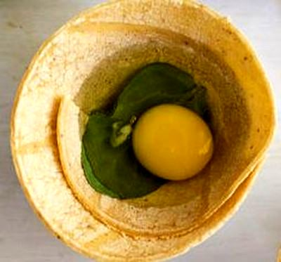 Tortilla cu ou si legume