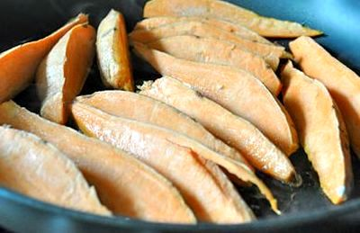 Cartofi dulci cu usturoi