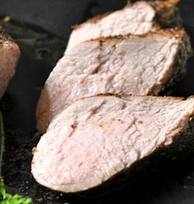 Muschi de porc la cuptor cu coriandru