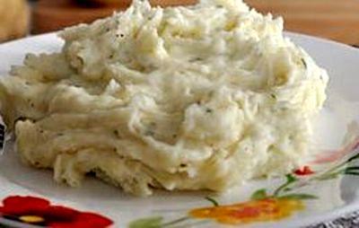 Piure de cartofi cu crema de branza