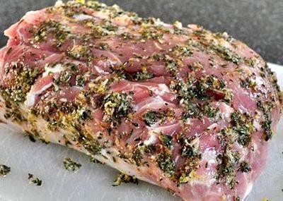 Muschi de porc aromat la cuptor