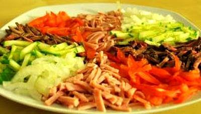 Salata de vita cu legume