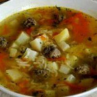 Supa de perisoare cu verdeata