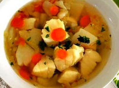 Supa de peste cu legume