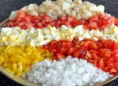 Salata cu porc si legume