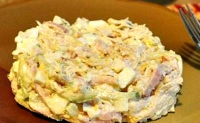 Salata de pui cu maioneza