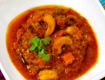 Curry de legume cu caju